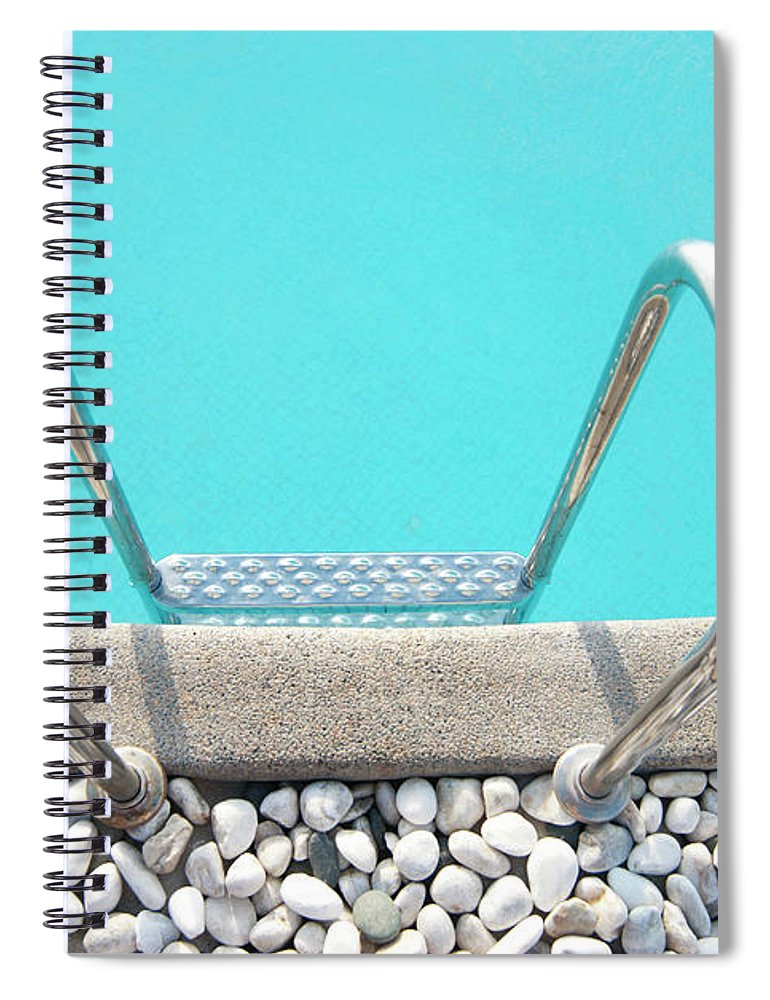 Tranquility Spiral Notebook featuring the photograph Swimming Pool With White Pebbles by Lawren