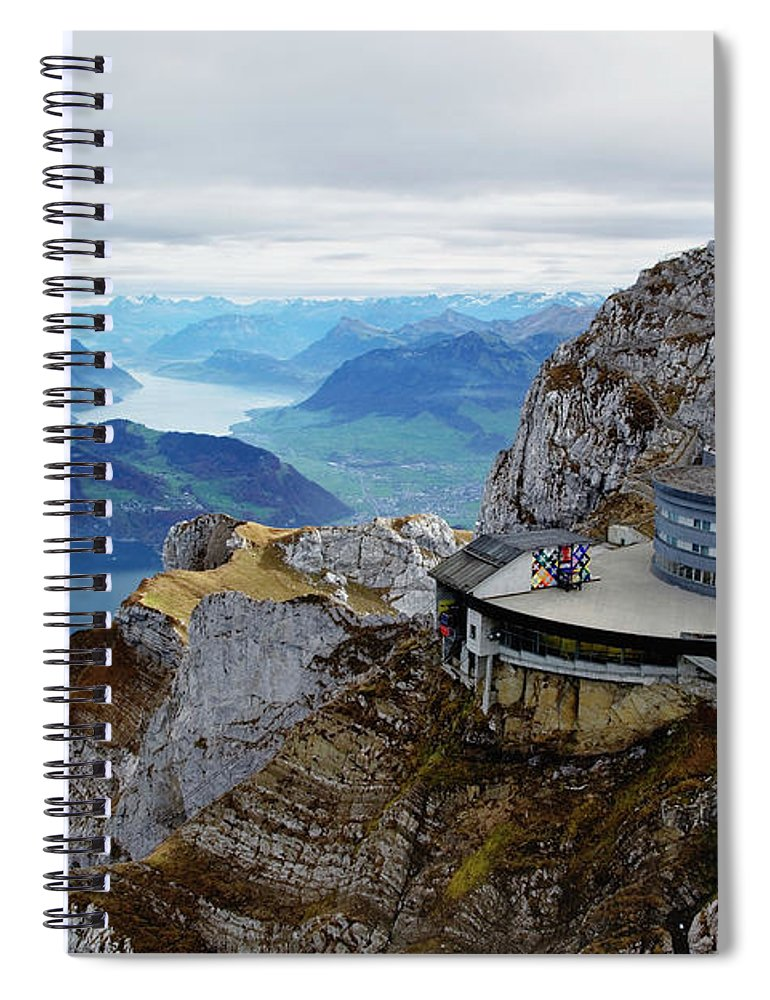 Outdoors Spiral Notebook featuring the photograph Switzerland, Lucerne, Lake Lucerne by Adam Jones