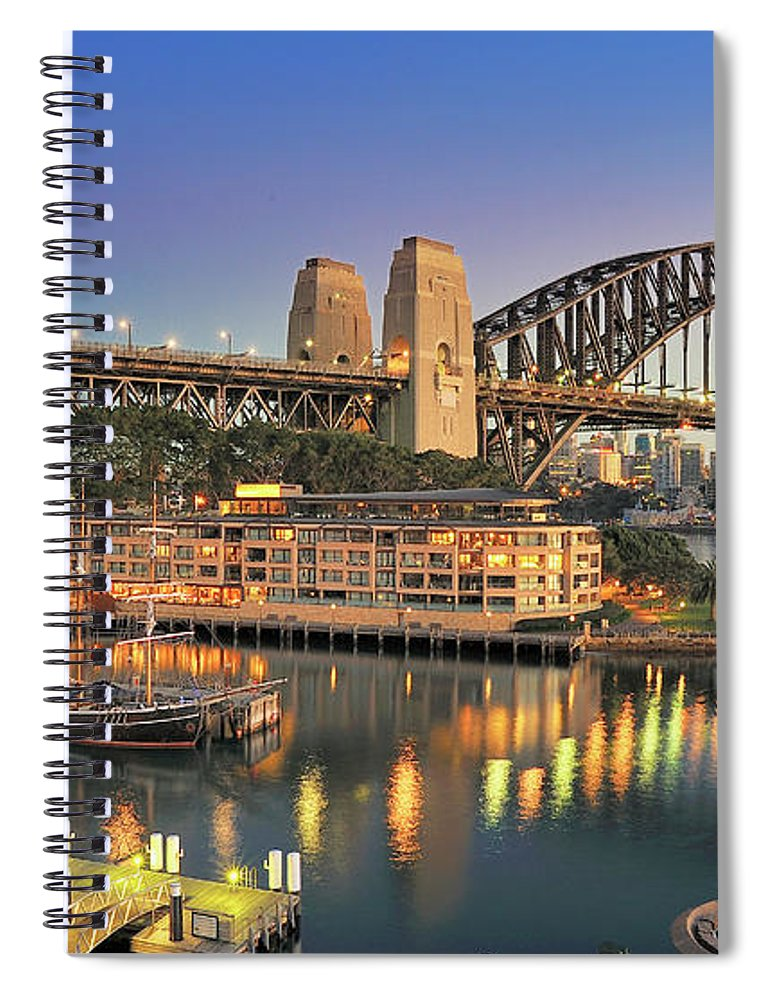 Built Structure Spiral Notebook featuring the photograph Sydney Harbour Bridge by Warwick Kent