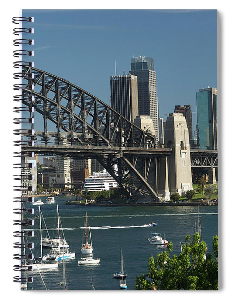 Sydney Harbor Bridge Spiral Notebook featuring the photograph Sydney Harbour, New South Wales by Robin Smith