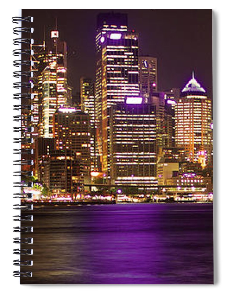 Panoramic Spiral Notebook featuring the photograph Sydney In Bronze by Capturing The Beauty Around Us, One Chapter At A Time...
