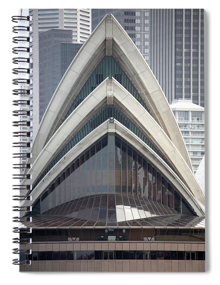 Built Structure Spiral Notebook featuring the photograph Sydney Opera House by Andrew Holt