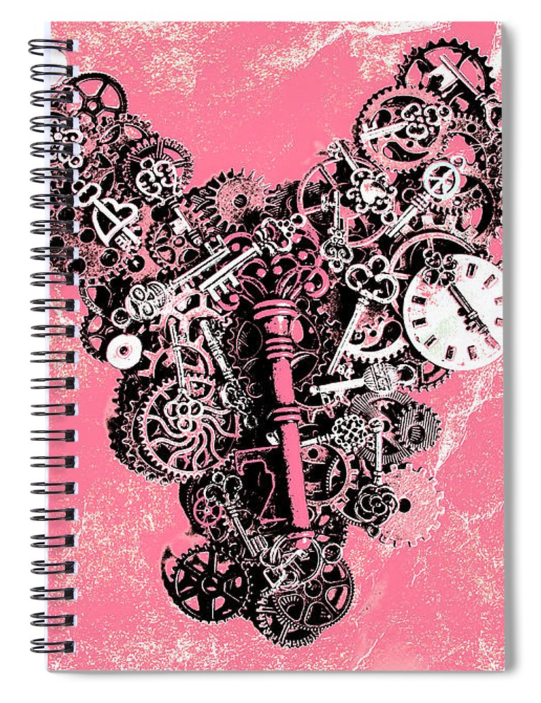 Retro Spiral Notebook featuring the photograph Symbiotic Sentiment by Jorgo Photography - Wall Art Gallery