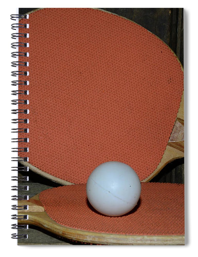 Paul Ward Spiral Notebook featuring the photograph Table Tennis by Paul Ward