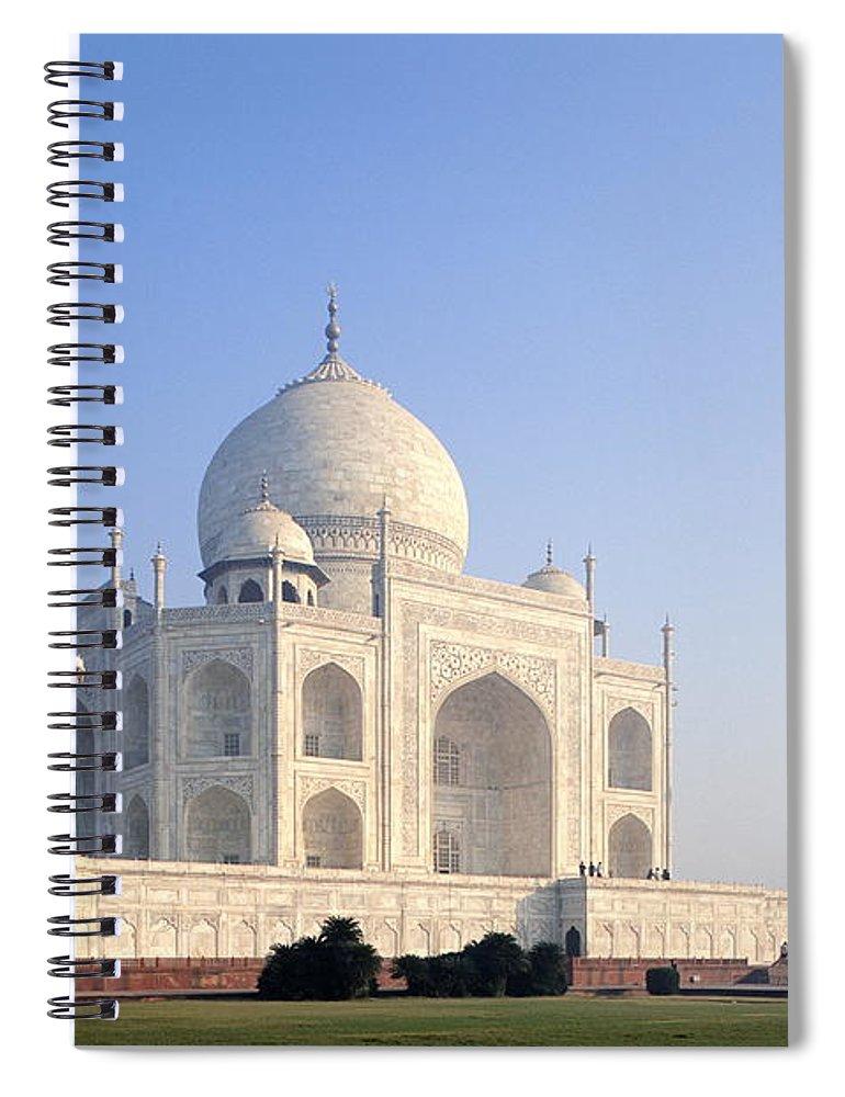 Scenics Spiral Notebook featuring the photograph Taj Mahal, Agra, Uttar Pradesh, India by Frans Lemmens