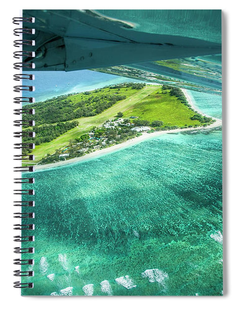 Grass Spiral Notebook featuring the photograph Taking Off From Great Barrier Reef by Nick