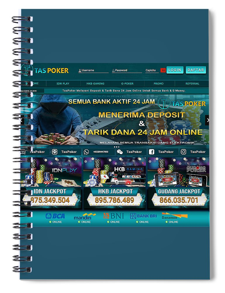 Taspoker Situs Poker Online Semua Bank Online 24 Jam Indonesia Spiral Notebook For Sale By Tas Poker