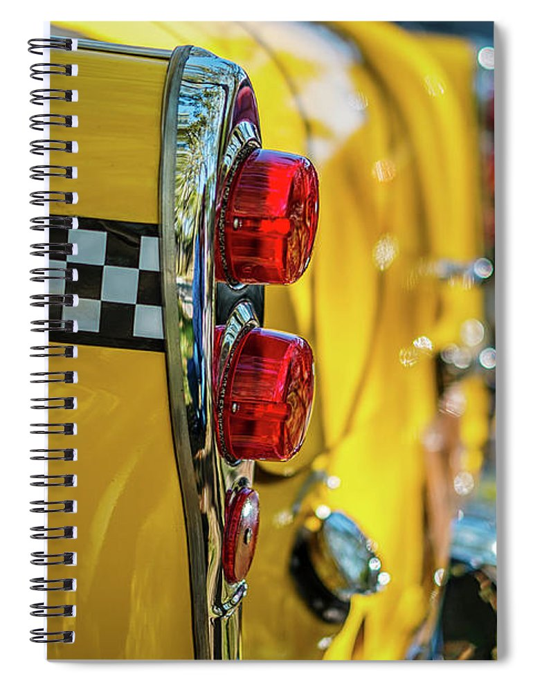 Outdoors Spiral Notebook featuring the photograph Taxi Tail Light, New York City, New by Kai Sarton