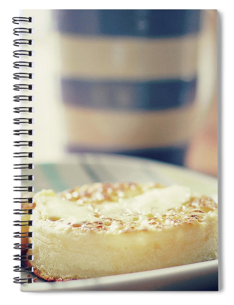 Healthy Eating Spiral Notebook featuring the photograph Tea And Crumpets by Deborah Slater