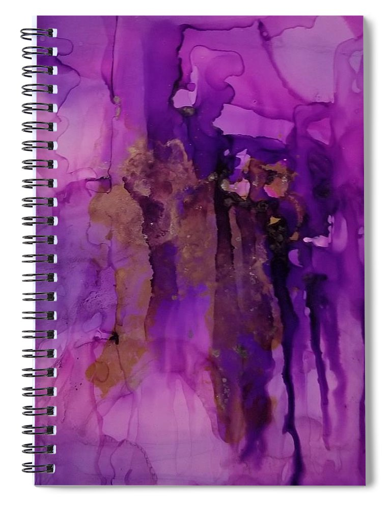 Art Spiral Notebook featuring the painting Tear In My heart by Paulina Roybal