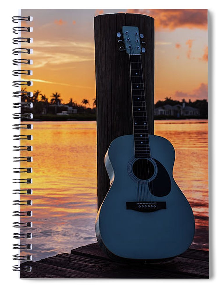 Music Spiral Notebook featuring the photograph Tequila Sunrise by Laura Fasulo