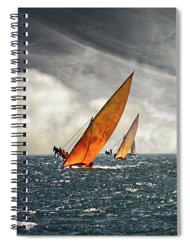 Kenya Spiral Notebook featuring the photograph The Art Of Swahili Dhow Racing by David Schweitzer