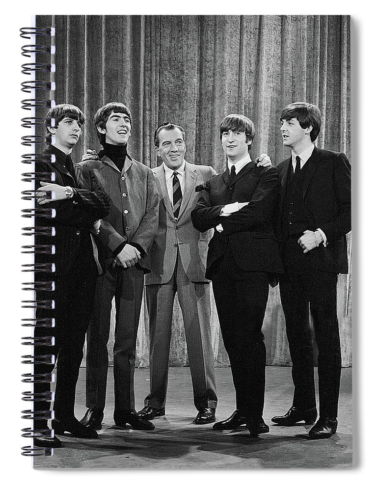 The Beatles Spiral Notebook featuring the photograph the beatles and ed sullivan - February, 1964 by Mountain Dreams