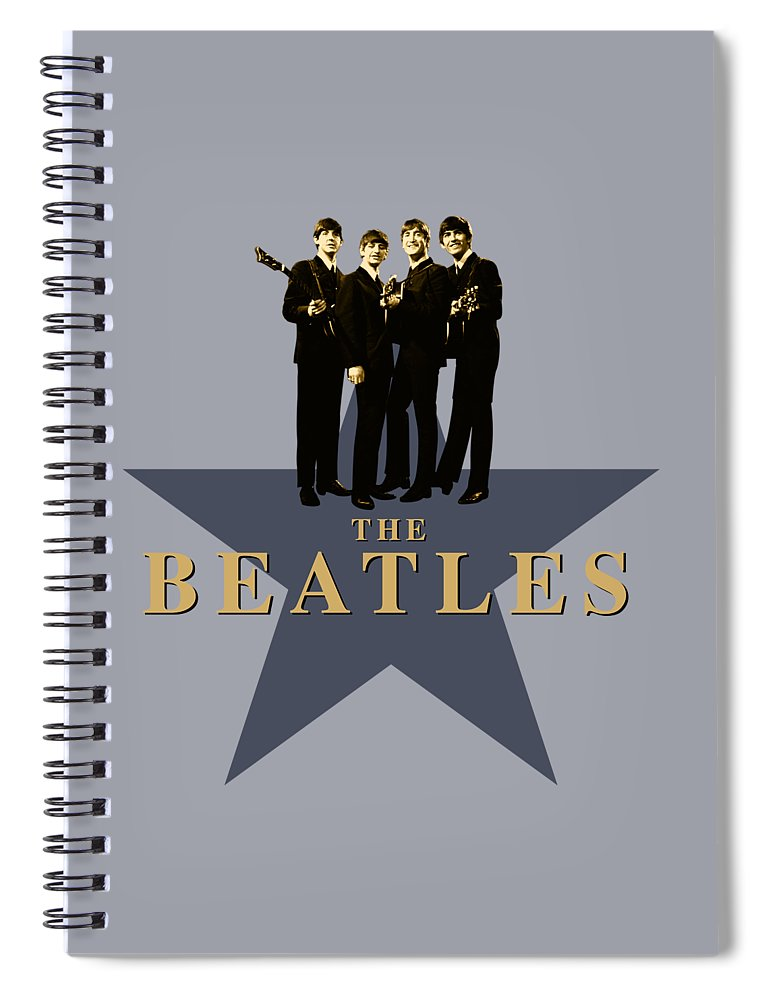 The Beatles Spiral Notebook featuring the digital art The Beatles - Signature by David Richardson