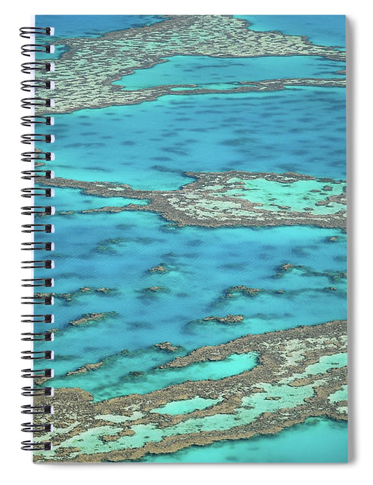 Scenics Spiral Notebook featuring the photograph The Big Reef, Whitsunday Islands by Chantal Ferraro