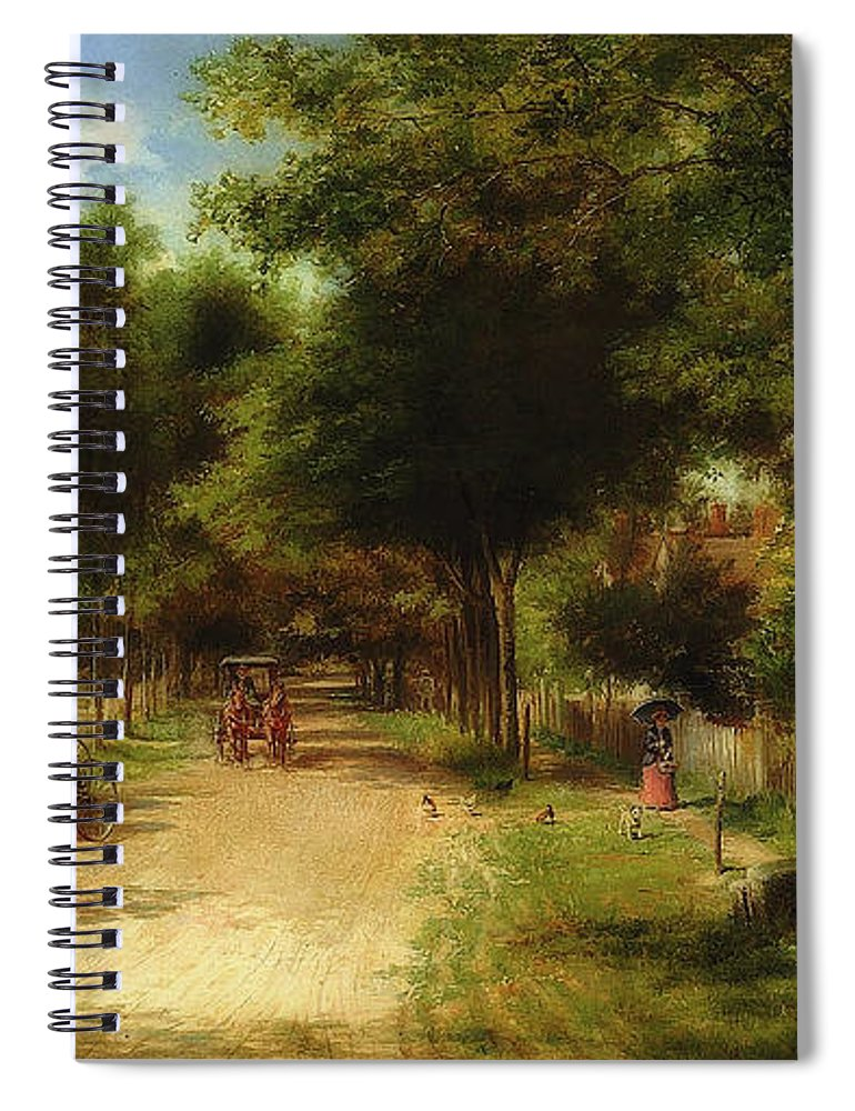 Painting Spiral Notebook featuring the painting The Country Store by Edward Lamson Henry