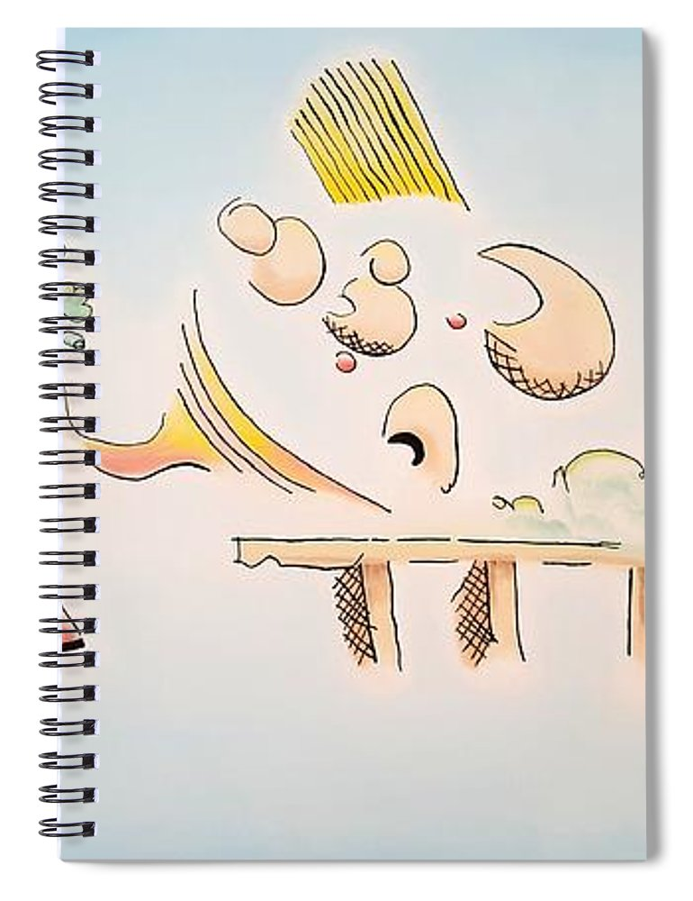 Abstract Spiral Notebook featuring the painting The Dawn Of Thought by Dave Martsolf