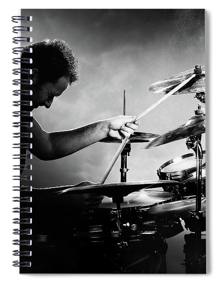 Drummer Spiral Notebook featuring the photograph The Drummer by Johan Swanepoel