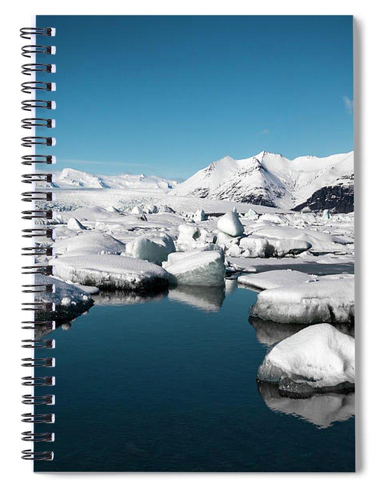 Kremsdorf Spiral Notebook featuring the photograph The Frozen Zone by Evelina Kremsdorf