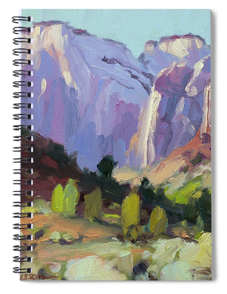 Zion Spiral Notebook featuring the painting The Halls Of Zion by Steve Henderson