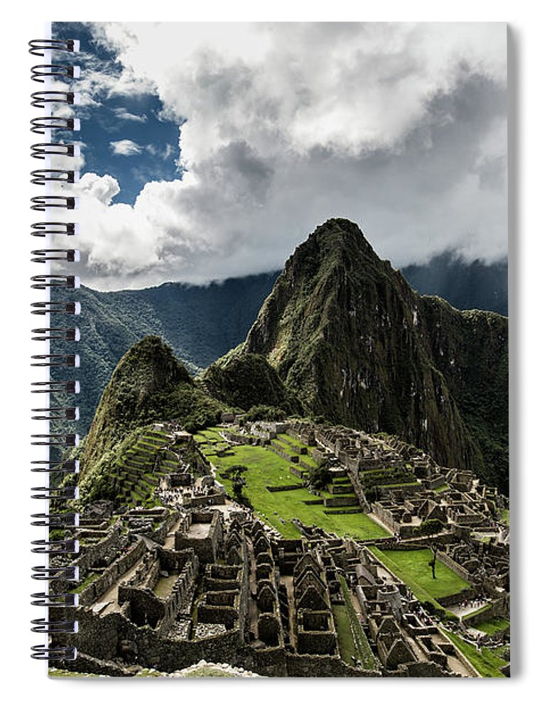 Scenics Spiral Notebook featuring the photograph The Inca Trail, Machu Picchu, Peru by Kevin Huang