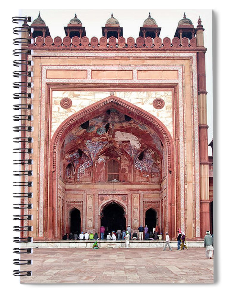 Arch Spiral Notebook featuring the photograph The Jama Masjid Mosque _3940 by Photograph By Howard Koons