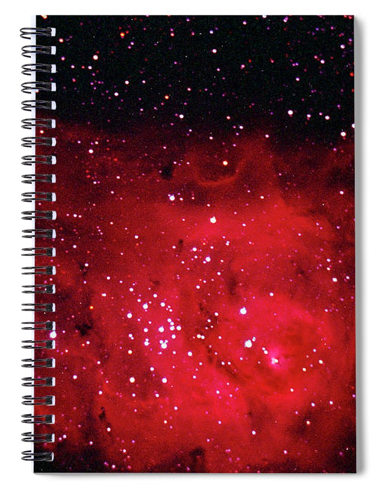 Majestic Spiral Notebook featuring the photograph The Lagoon Nebula In Sagittarius by A. V. Ley