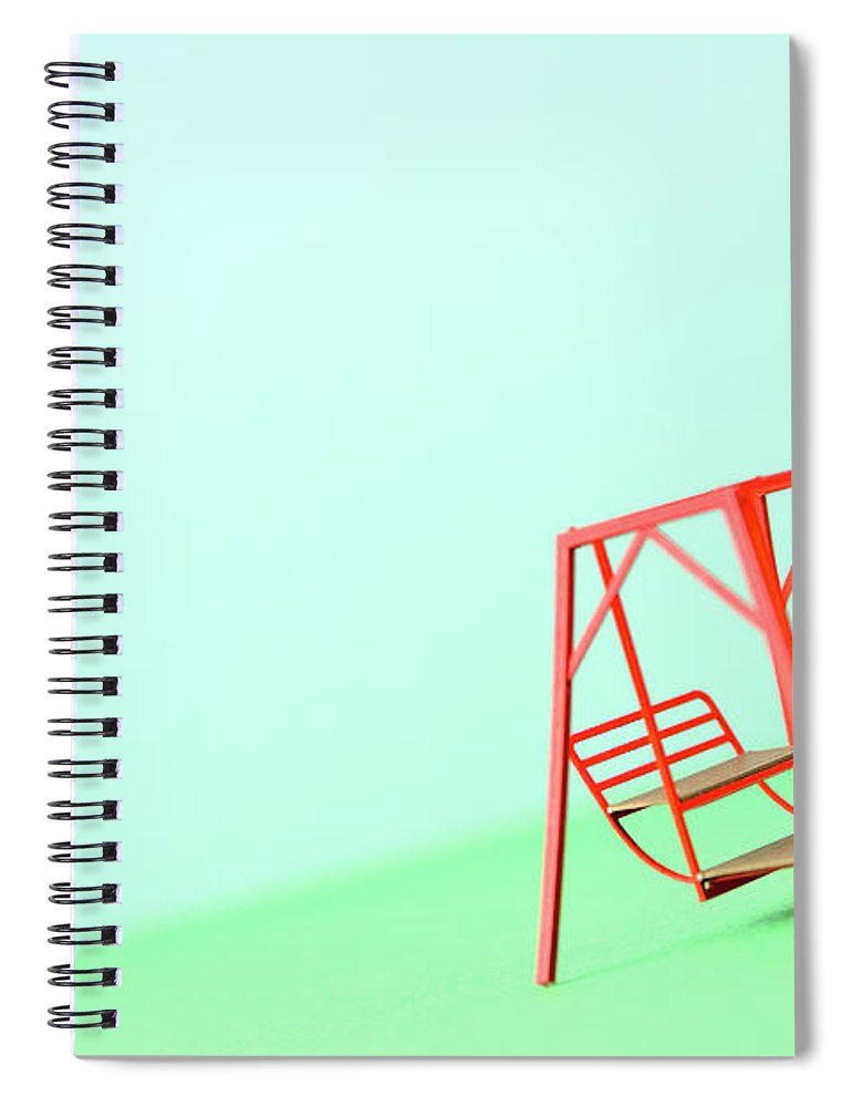 Paper Craft Spiral Notebook featuring the photograph The Model Of The Swing Made Of The Paper by Yagi Studio