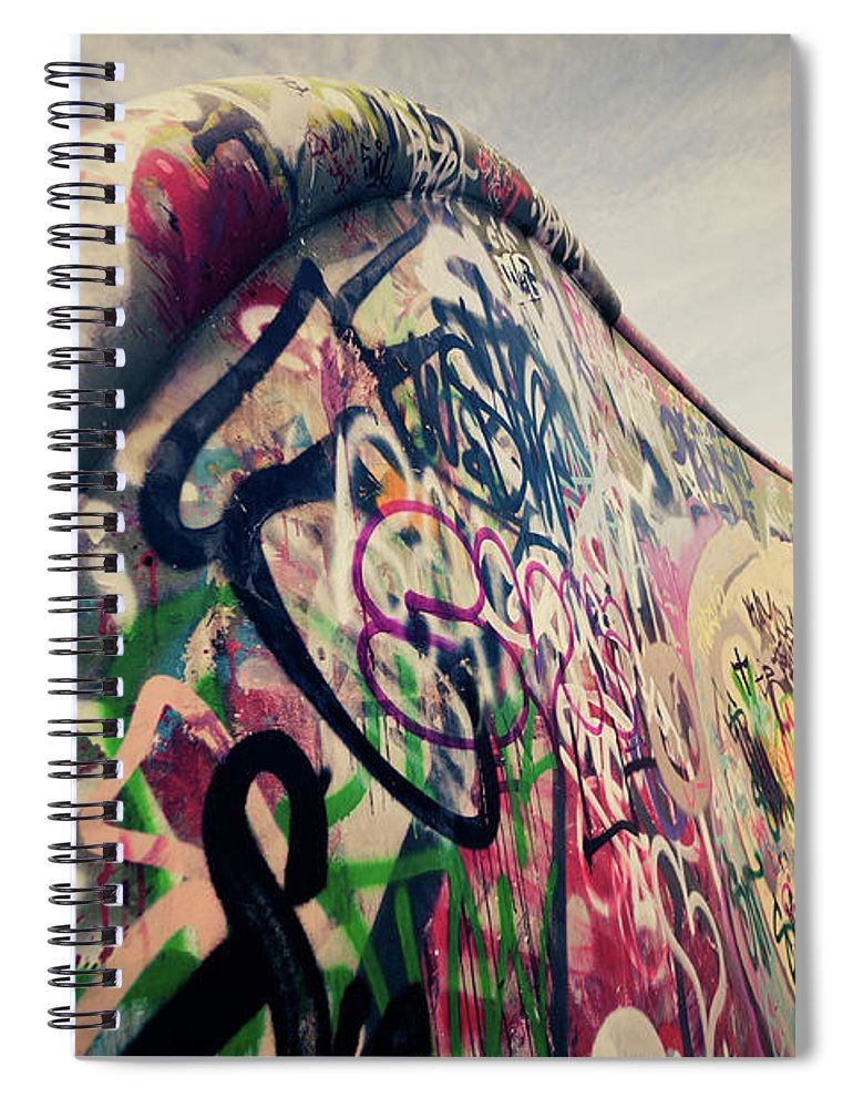 Orange Color Spiral Notebook featuring the photograph The Ramp by Ppampicture