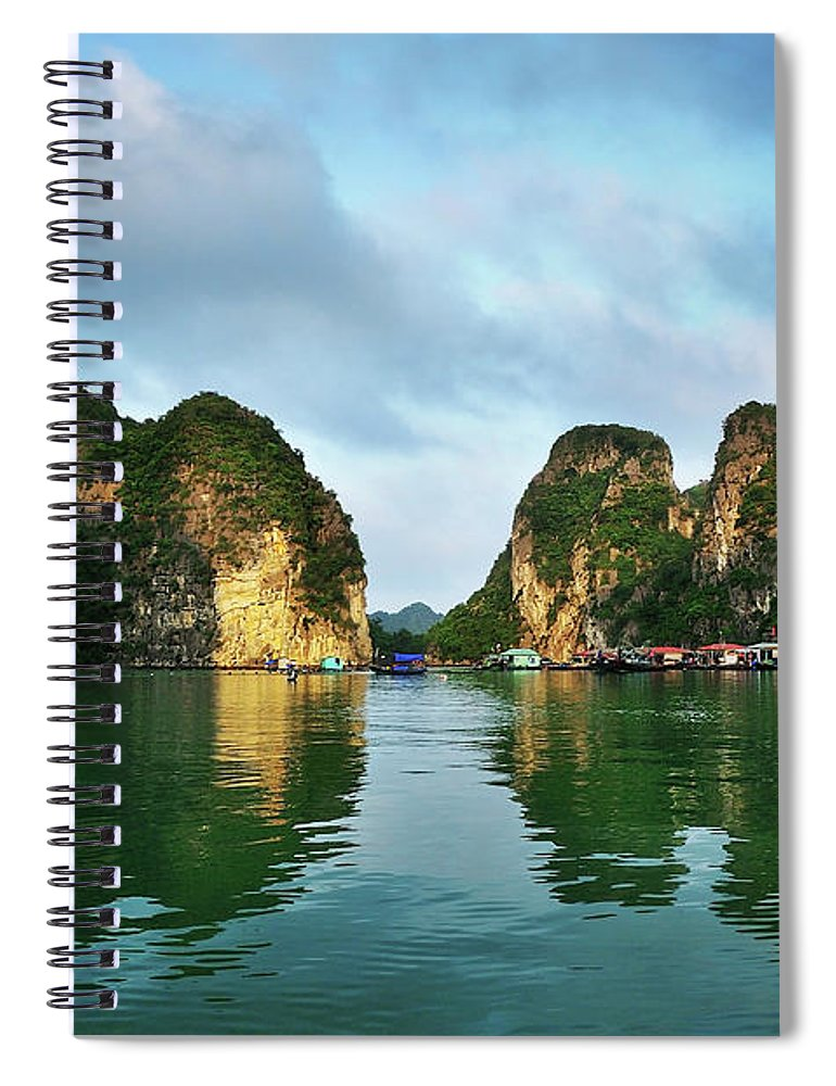 Scenics Spiral Notebook featuring the photograph The Scenic Of Halong Bay by Photo By Sayid Budhi