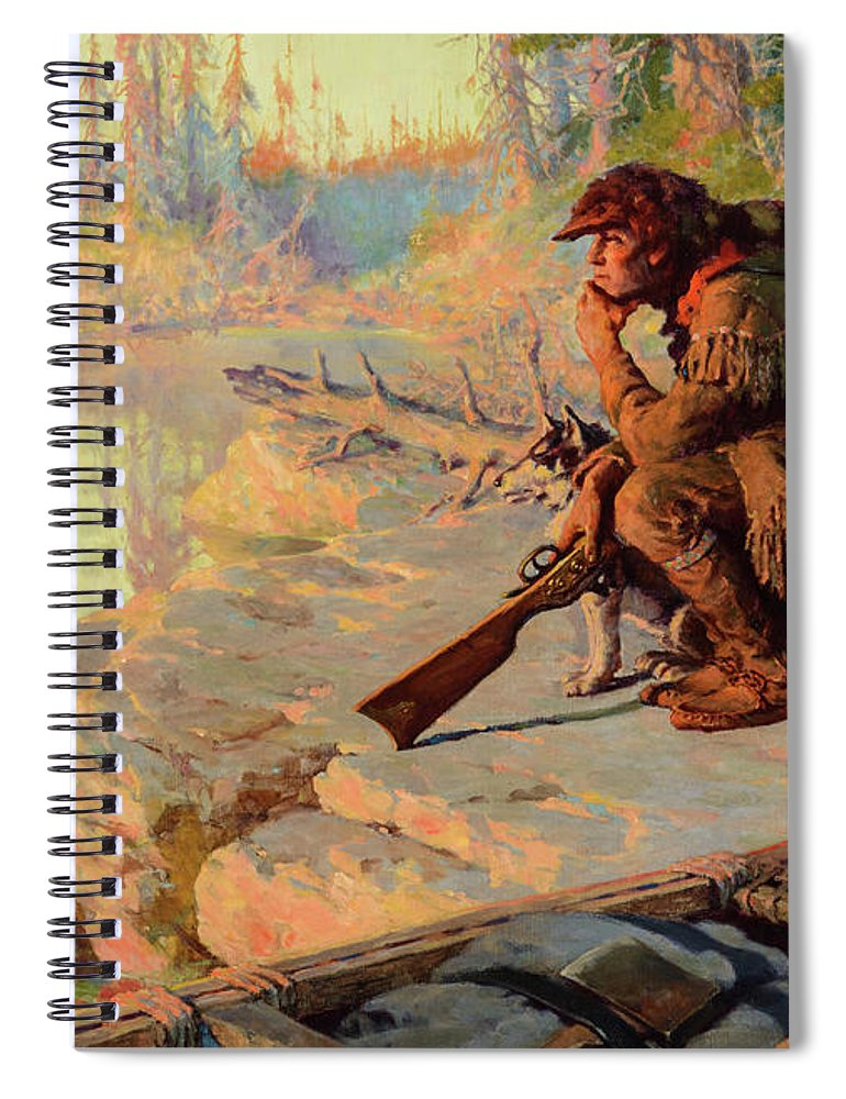 Oliver Kemp Spiral Notebook featuring the painting The Silent Places by Oliver Kemp