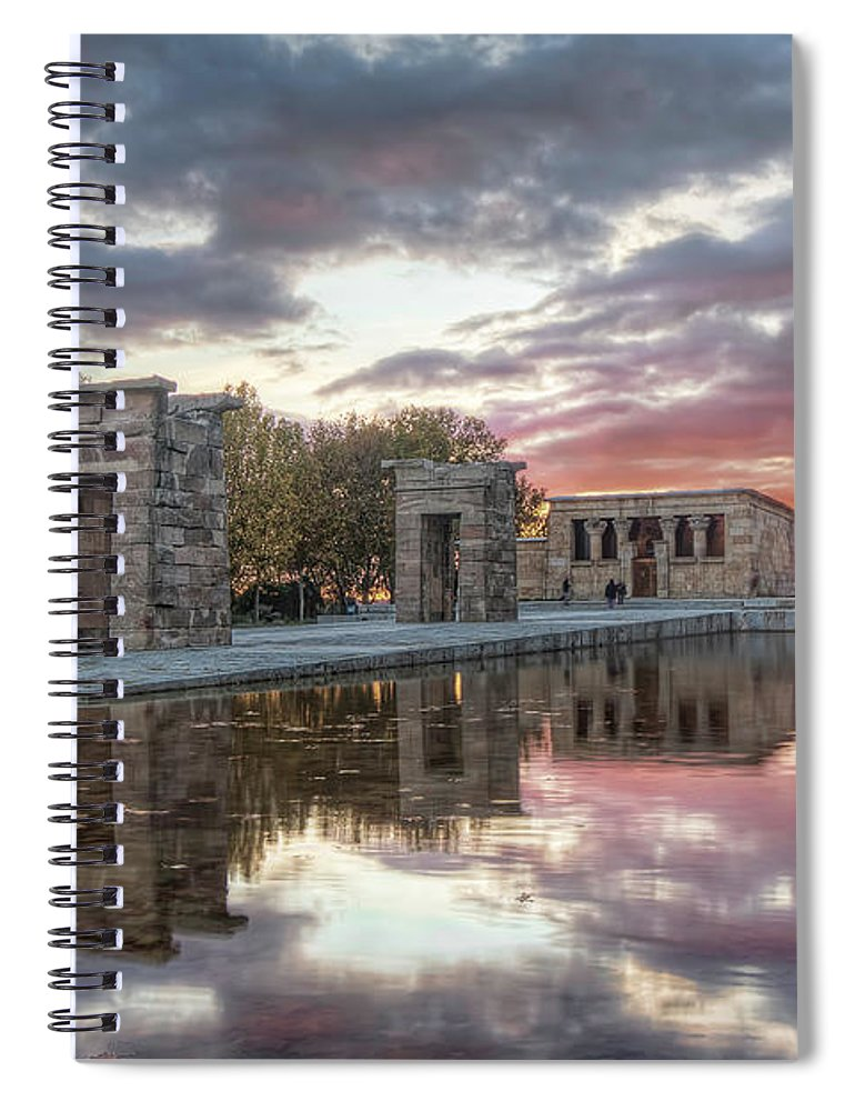 Arch Spiral Notebook featuring the photograph The Twilight Of The Gods by Servalpe