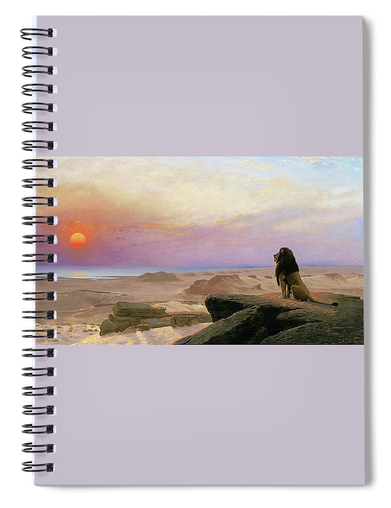 Jean Leon Gerome Spiral Notebook featuring the painting The Two Majesties - Digital Remastered Edition by Jean-Leon Gerome