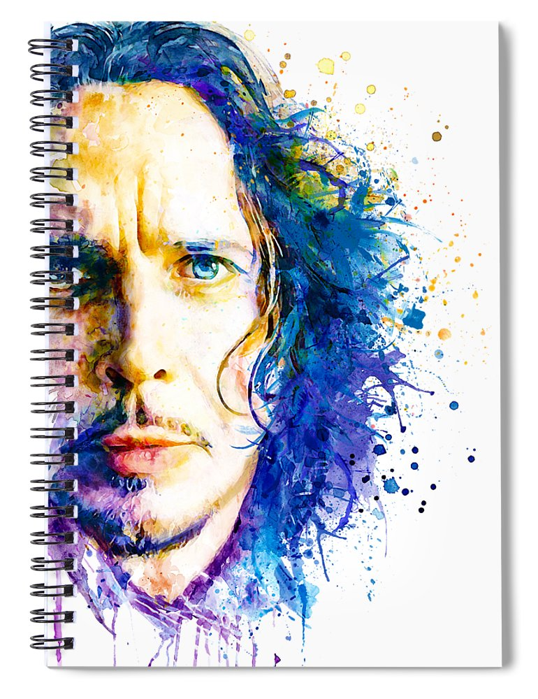 Grunge Spiral Notebook featuring the painting The Voice Of Seattle by Marian Voicu