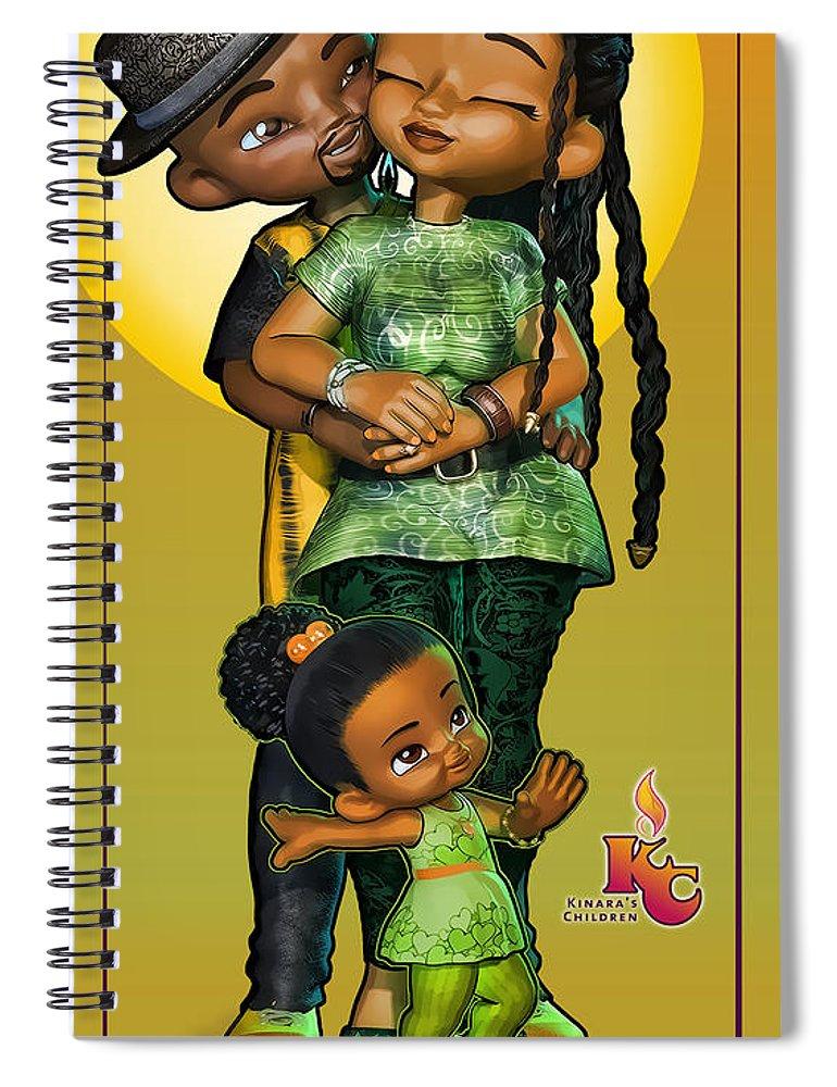 Kinaras Children Spiral Notebook featuring the digital art Three's No Crowd by Darryl Crosby