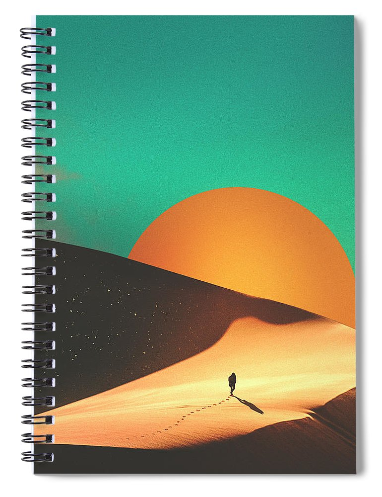 Collage Spiral Notebook featuring the digital art Thrist by Fran Rodriguez