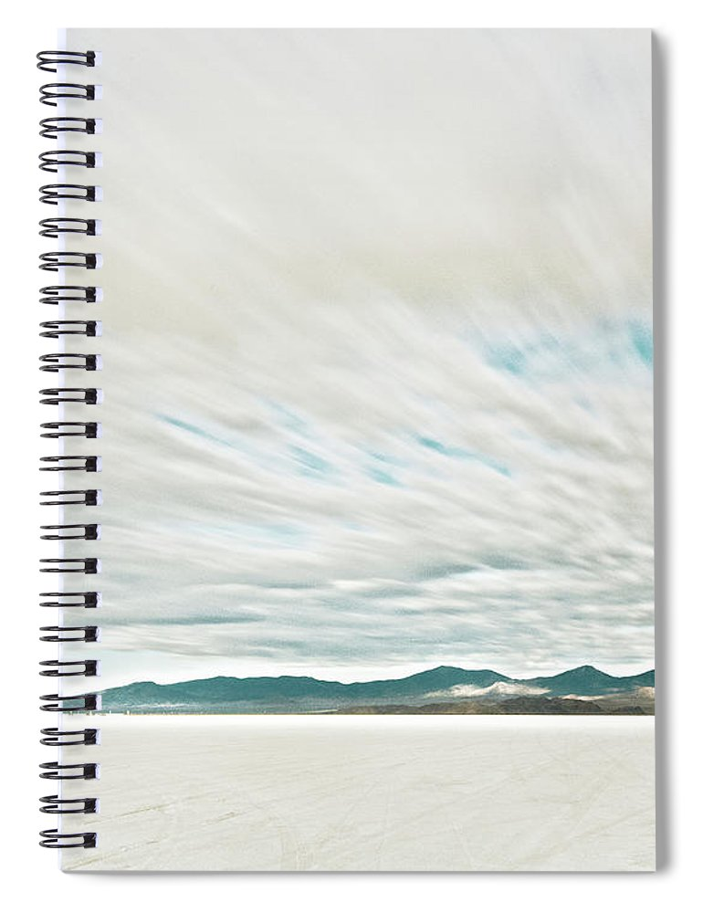 Tranquility Spiral Notebook featuring the photograph Time Exposure Clouds In Motion Above by Andy Ryan