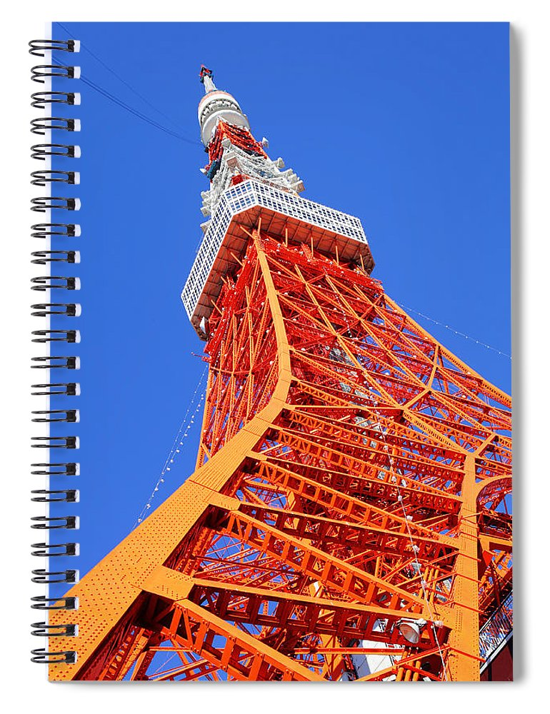 Tokyo Tower Spiral Notebook featuring the photograph Tokyo Tower by Ngkaki