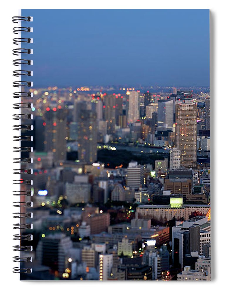 Tokyo Tower Spiral Notebook featuring the photograph Tokyo Tower by Vladimir Zakharov