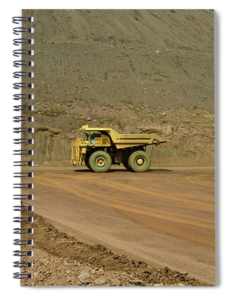 Southern Hemisphere Spiral Notebook featuring the photograph Tom Price Earthmover by Samvaltenbergs