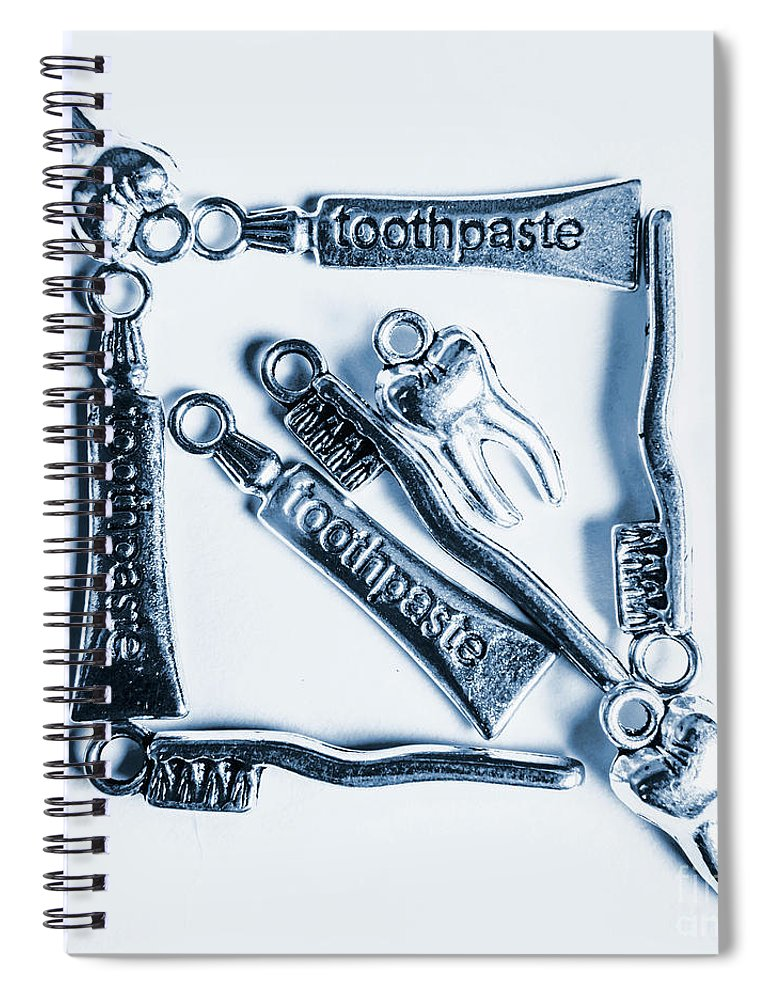 Teeth Spiral Notebook featuring the photograph Tooth Decay Protection by Jorgo Photography - Wall Art Gallery