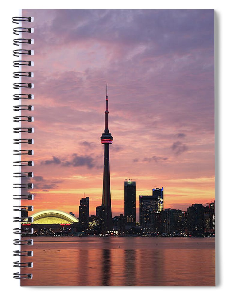 Lake Ontario Spiral Notebook featuring the photograph Toronto by Js`s Favorite Things