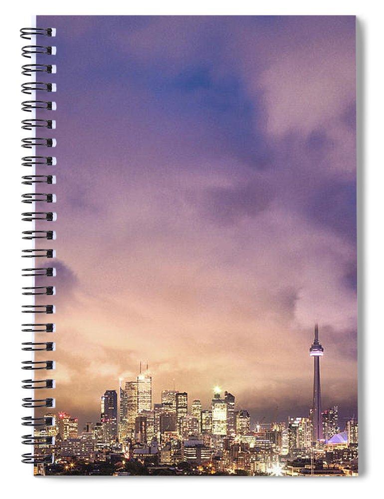Toronto Spiral Notebook featuring the photograph Toronto Love by Richard Gottardo - Info@richardgottardo.com