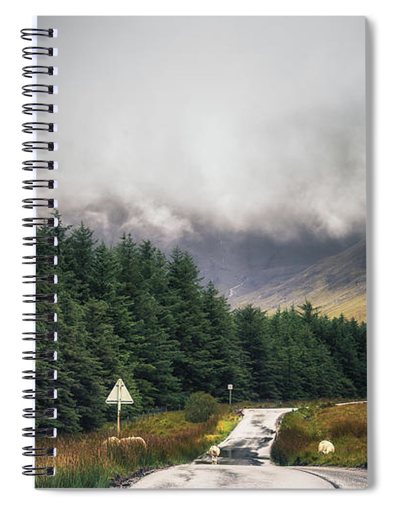 Chris Fletcher Spiral Notebook featuring the photograph Towards The Fairy Pools by Chris Fletcher