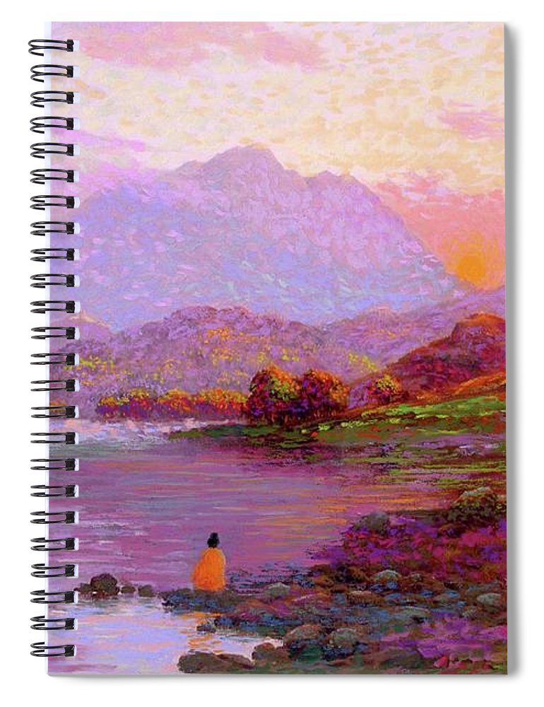 Sun Spiral Notebook featuring the painting Tranquil Mind by Jane Small