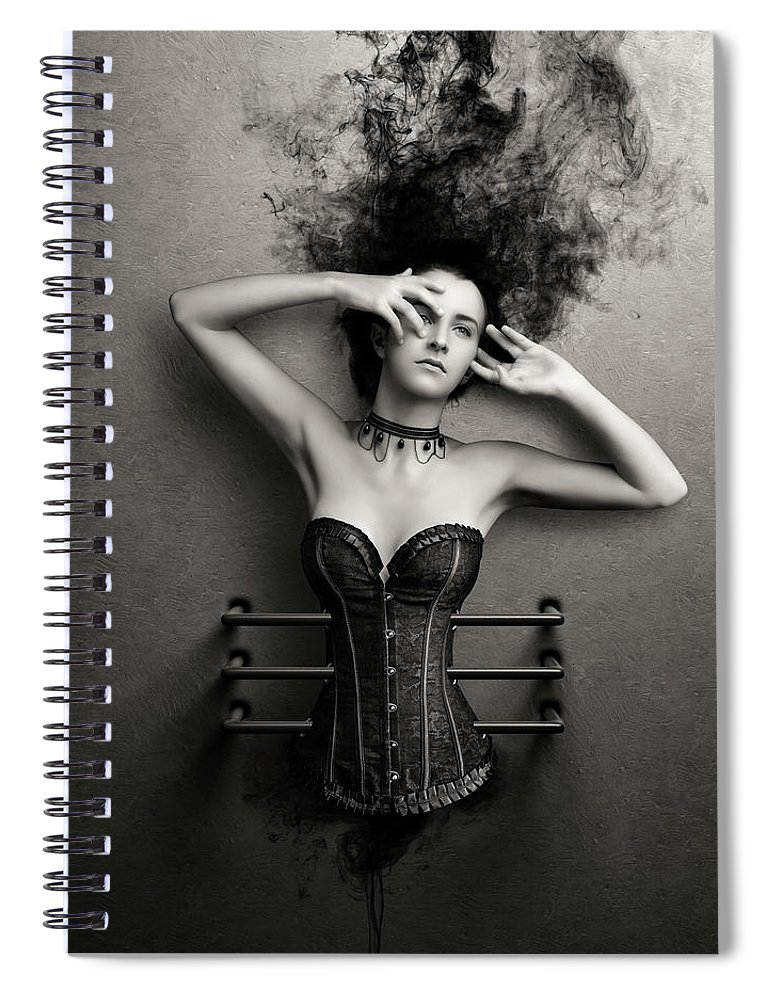 Woman Spiral Notebook featuring the photograph Trapped by Johan Swanepoel