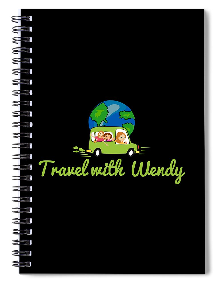 Travel With Wendy Spiral Notebook featuring the photograph Travel With Wendy by Wendy Payne Travel Writer