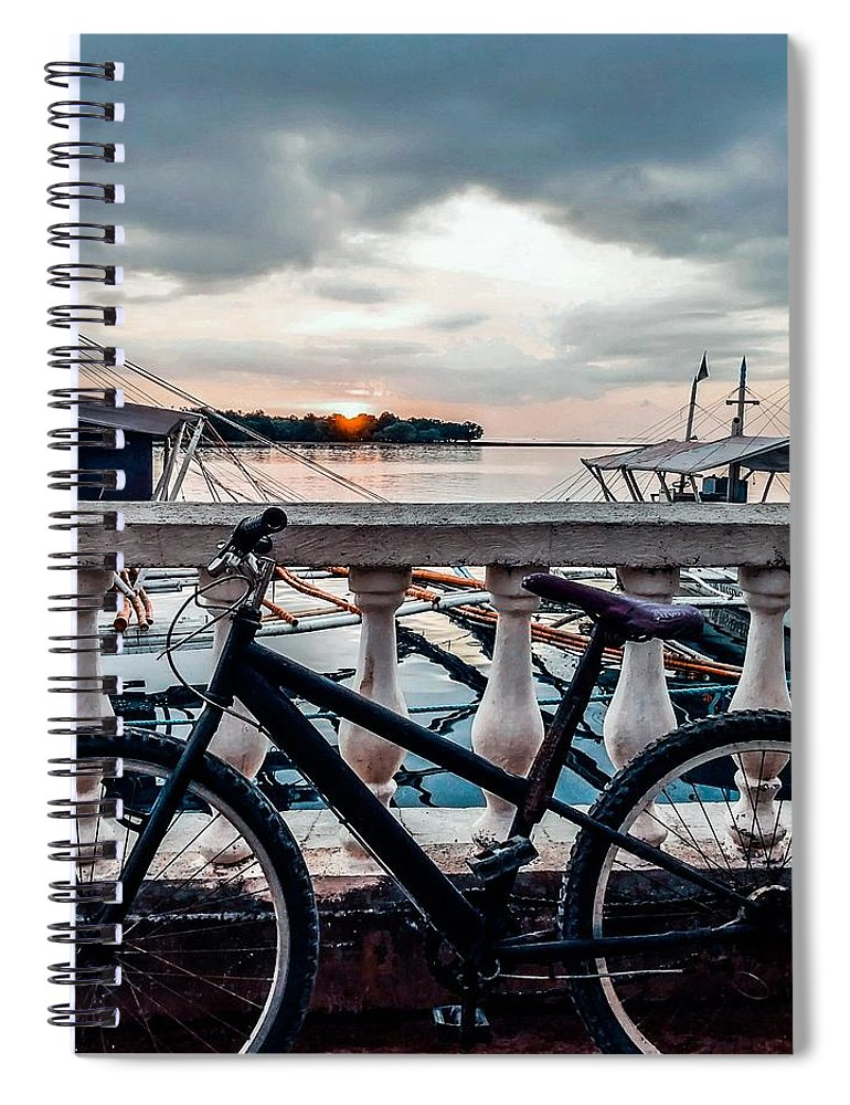 Bike Spiral Notebook featuring the photograph Traveller's Point by Dynz Abejero