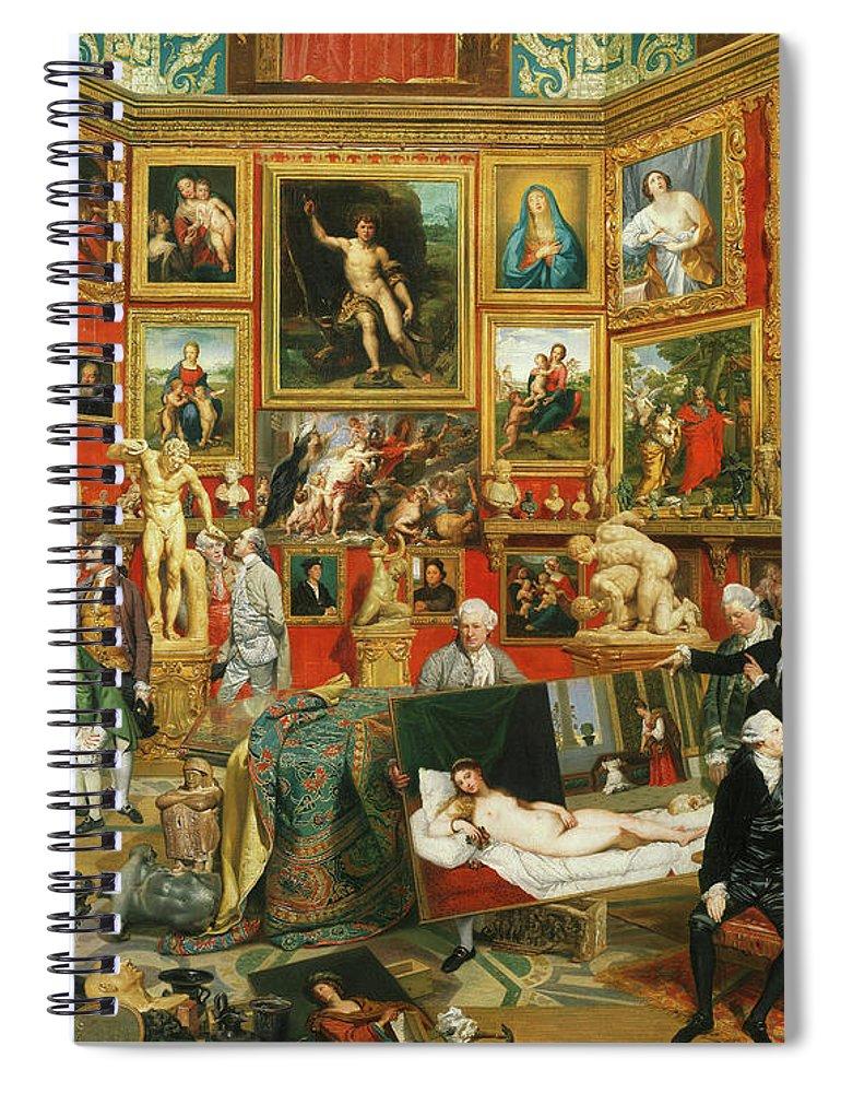 Johan Zoffany Spiral Notebook featuring the painting Tribuna Of The Uffizi, 1777 by Johan Zoffany