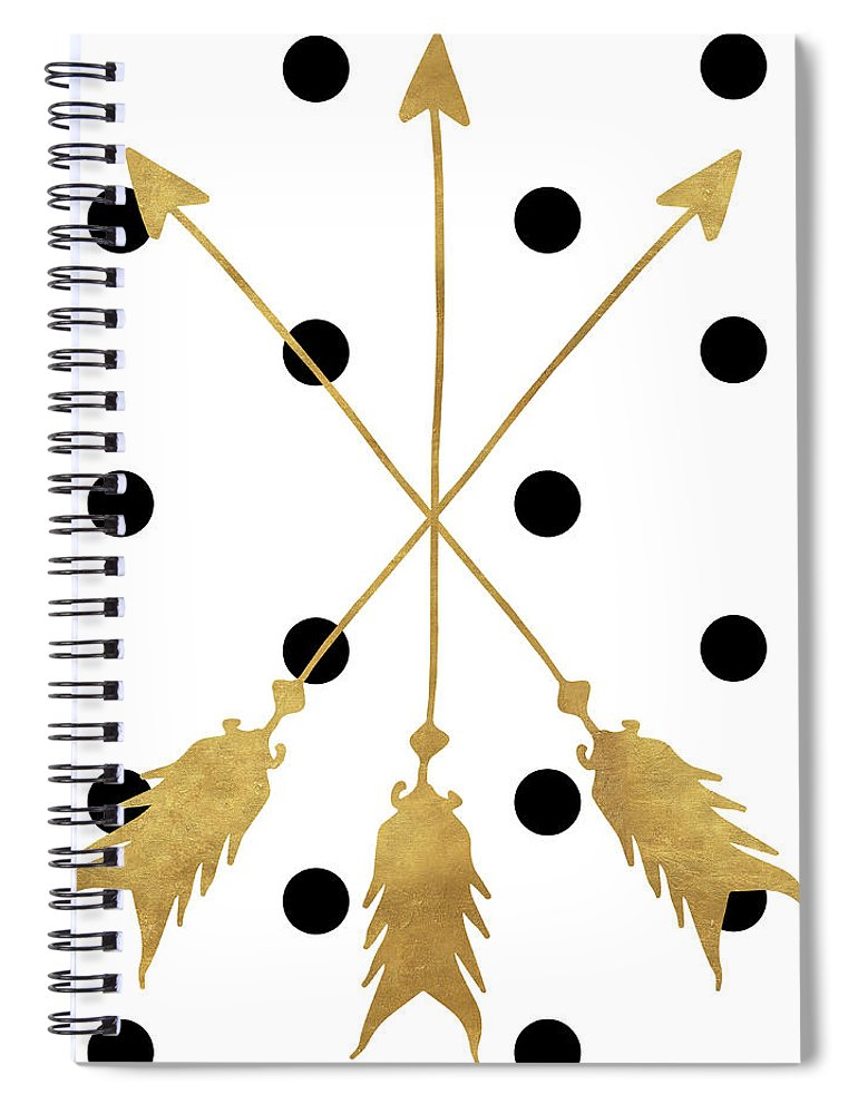 Triple Spiral Notebook featuring the painting Triple Threat by Sd Graphics Studio